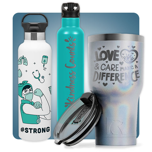 Decorated RTIC Tumblers and Mugs
