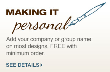 Free Personalization with your group name on most shirts