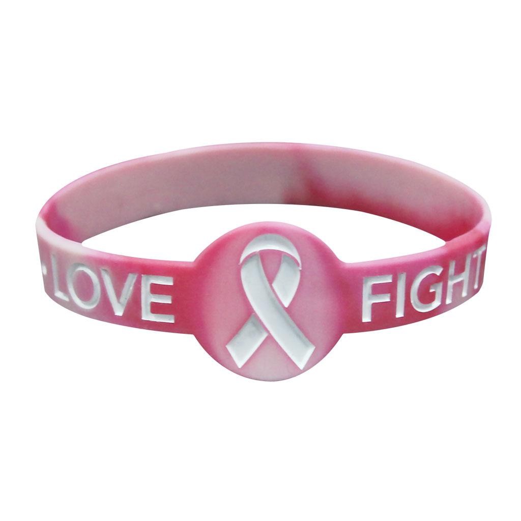 Breast awareness wrist bands