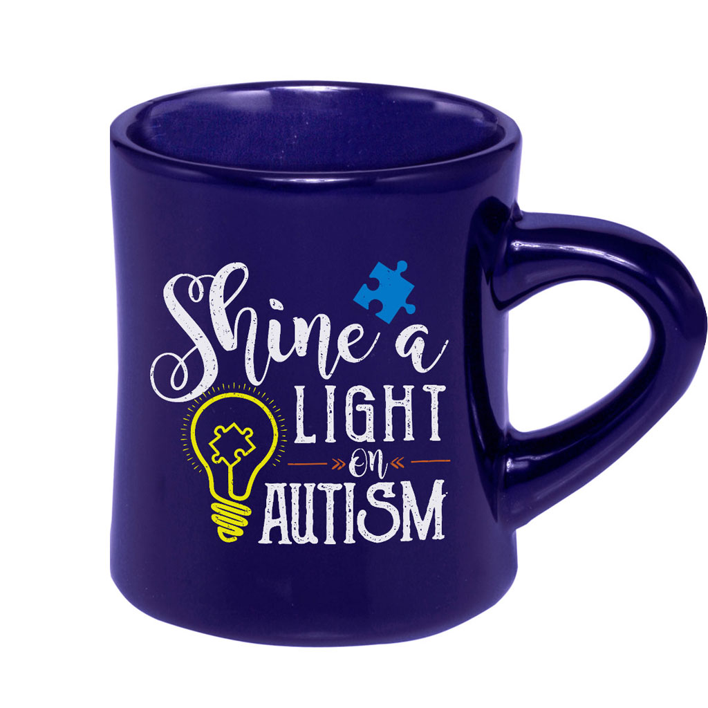 Shine a Light Autism Awareness Mugs